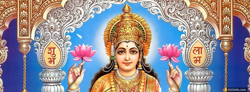 Photo religions lakshmi puja Facebook Cover for Free