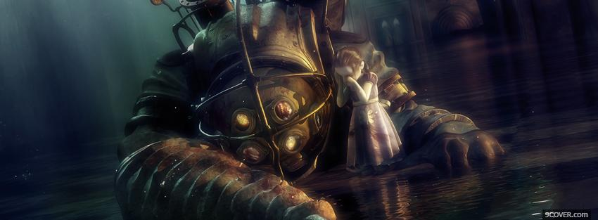 Photo bioshock 2 dead big daddy Facebook Cover for Free