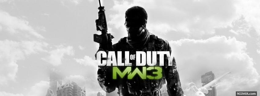 Photo call of duty modern warfare 3 Facebook Cover for Free