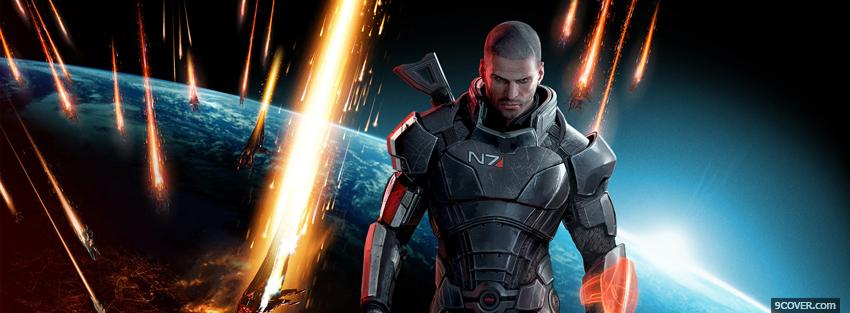 Photo mass effect 3 view of earth Facebook Cover for Free