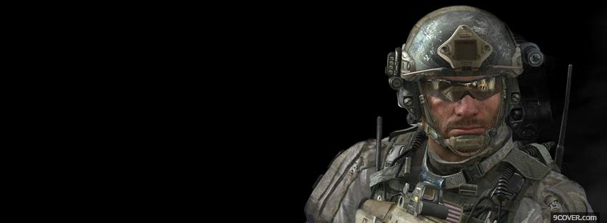 Photo soldier call of duty modern warfare 3 Facebook Cover for Free