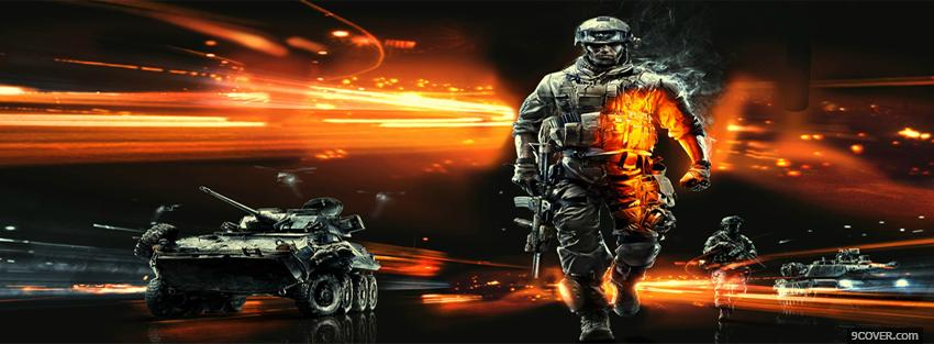 Photo video games battlefield 3 Facebook Cover for Free