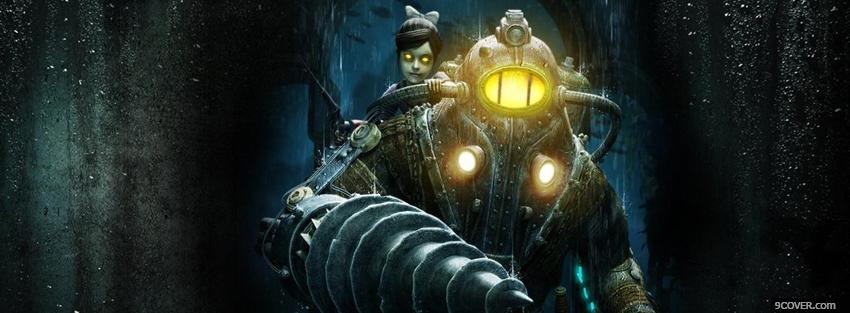 Photo video games bioshock at night Facebook Cover for Free
