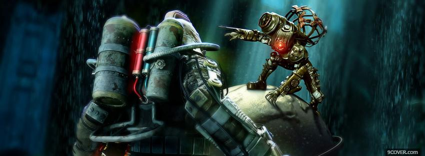 Photo video games bioshock Facebook Cover for Free