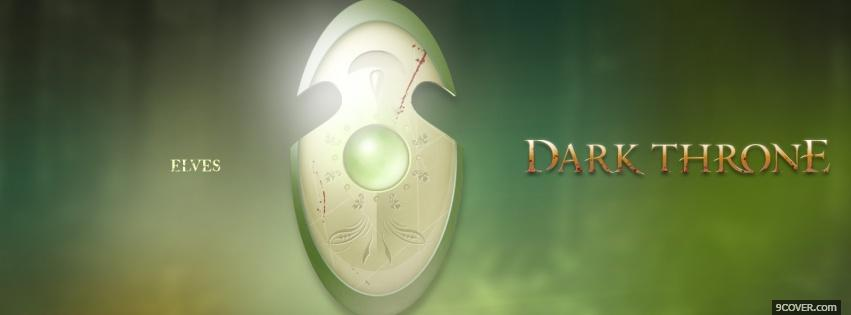 Photo elves dark throne Facebook Cover for Free
