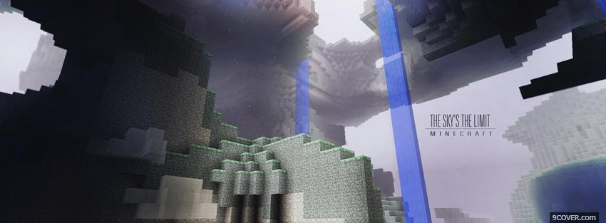 Photo minecraft the skys the limit Facebook Cover for Free