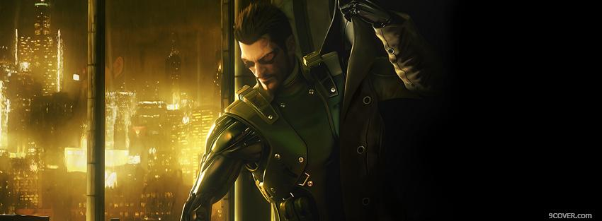 Photo video games deus ex artwork Facebook Cover for Free
