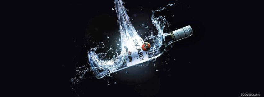 Photo bacardi splash alcohol Facebook Cover for Free
