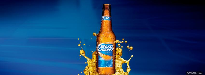 Photo bud light beer alcohol Facebook Cover for Free