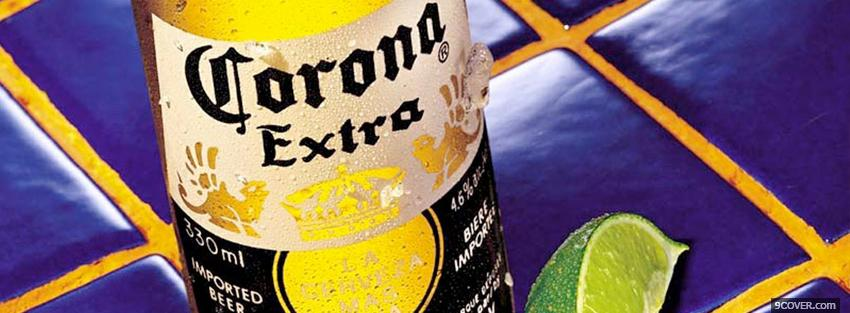 Photo corona extra alcohol Facebook Cover for Free