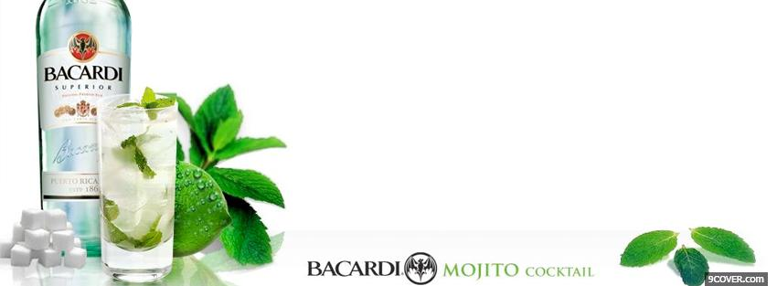 Photo bacardi mojito cocktail Facebook Cover for Free