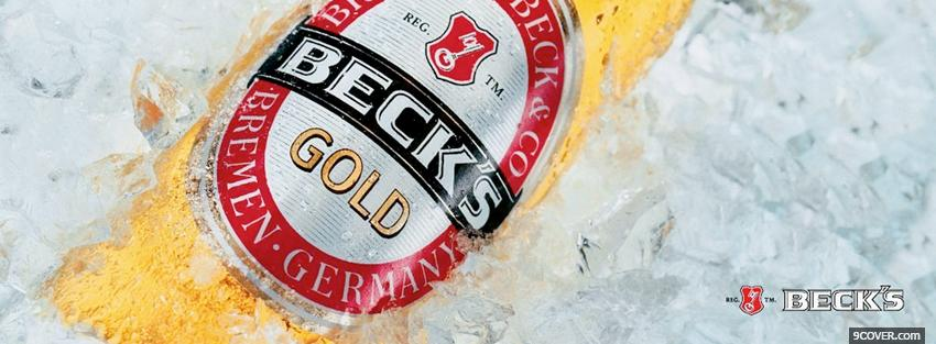 Photo becks gold beer alcohol Facebook Cover for Free