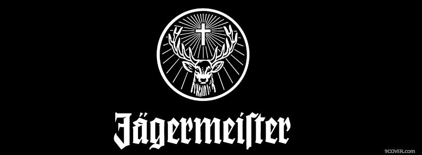 Photo black and white jagermeister Facebook Cover for Free
