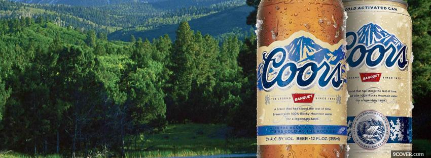 Photo coors beer in forest Facebook Cover for Free