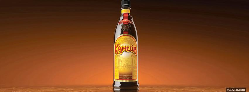 Photo imported kahlua alcohol Facebook Cover for Free