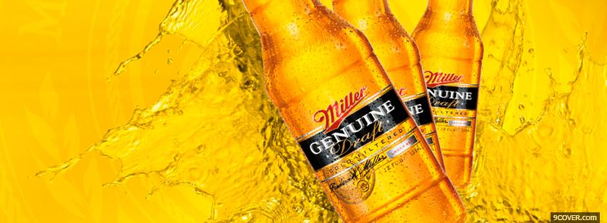 Photo miller genuine draft beer Facebook Cover for Free