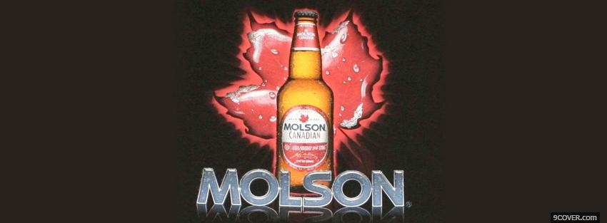 Photo molson beer and canadian leaf Facebook Cover for Free
