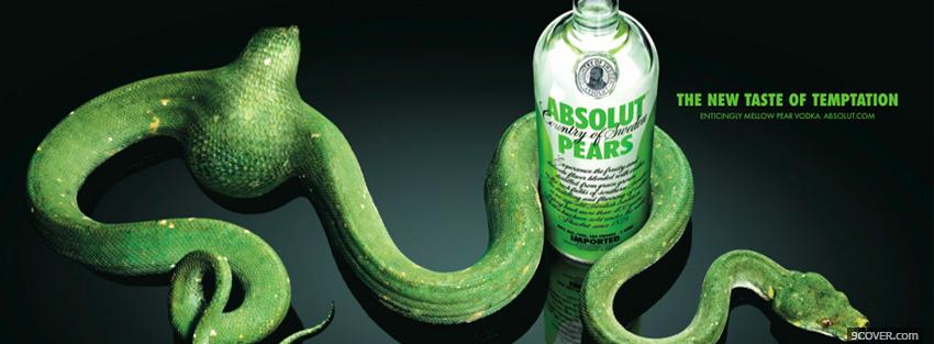 Photo snake and absolut vodka pears Facebook Cover for Free
