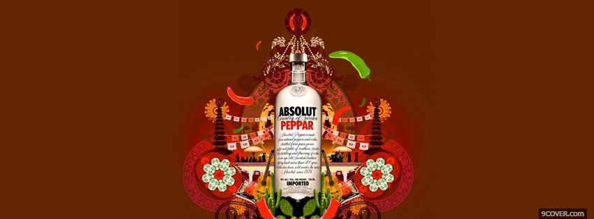 Photo absolut peppar alcohol Facebook Cover for Free