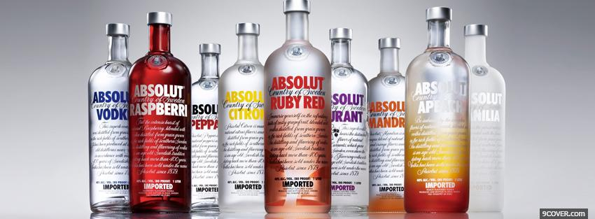 Photo absolut vodka collection Facebook Cover for Free