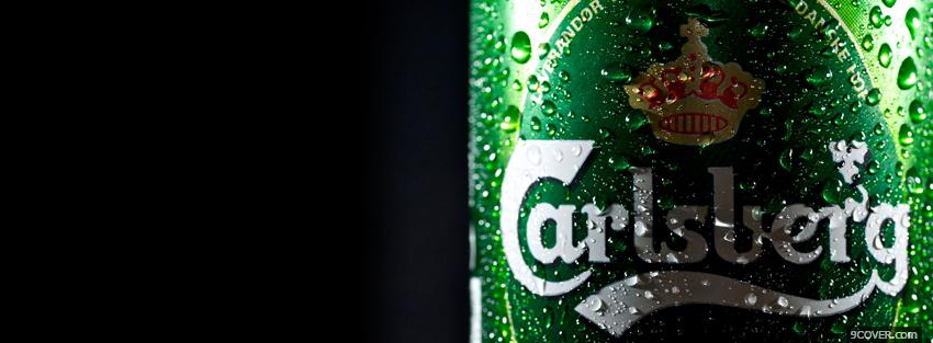 Photo carlsberg alcohol Facebook Cover for Free
