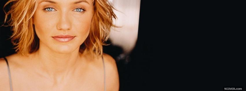 Photo cameron diaz and short hair style Facebook Cover for Free
