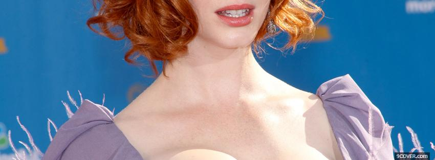 Photo christina hendricks emmy 2010 Facebook Cover for Free