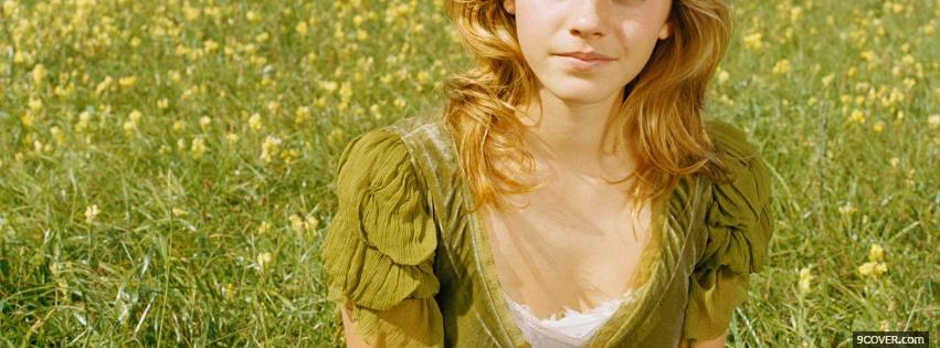 Photo emma watson on the grass Facebook Cover for Free