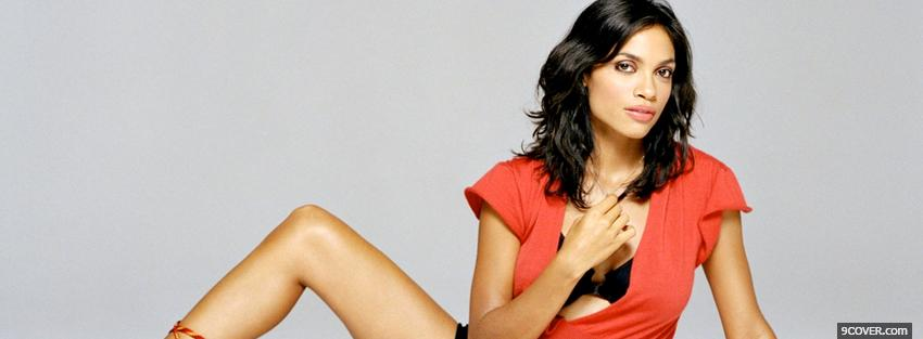 Photo lovely rosario dawson Facebook Cover for Free