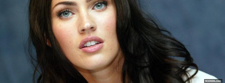 Photo plump lips of megan fox Facebook Cover for Free