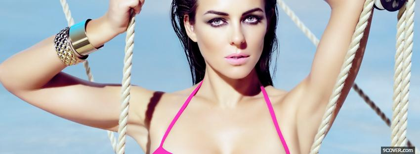 Photo elizabeth hurley holding ropes Facebook Cover for Free