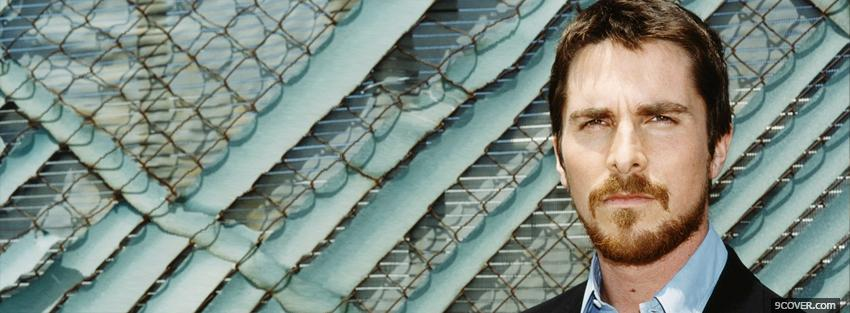 Photo celebrity christian bale Facebook Cover for Free