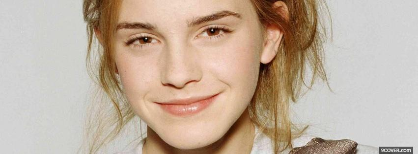 Photo easy going celebrity emma watson Facebook Cover for Free