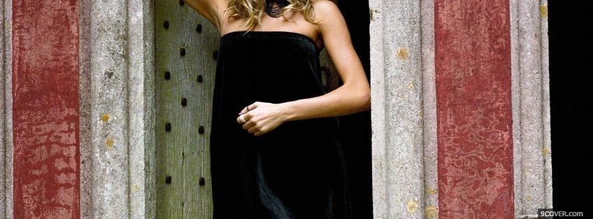 Photo sienna miller in black dress Facebook Cover for Free