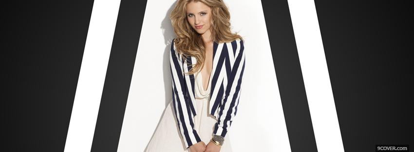 Photo celebrity dianna agron wearing stripes Facebook Cover for Free