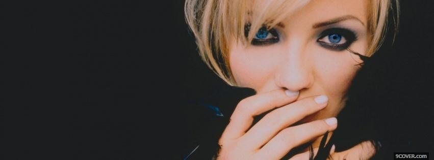 Photo great eye makeup cameron diaz Facebook Cover for Free