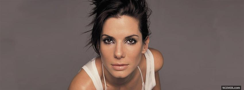 Photo magnetic actress sandra bullock Facebook Cover for Free
