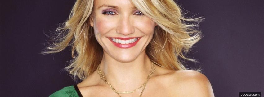 Photo wavy hair cameron diaz Facebook Cover for Free