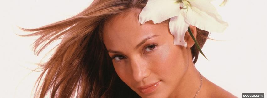 Photo splendid celebrity jennifer lopez Facebook Cover for Free