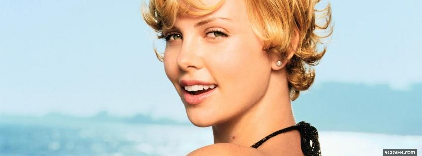 Photo glowing short hair charlize theron Facebook Cover for Free