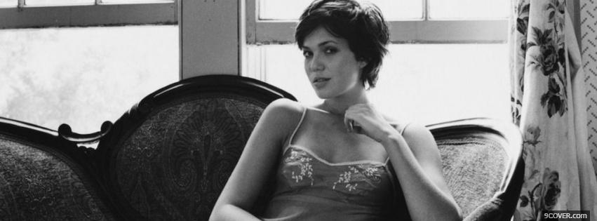 Photo seductive short haired mandy moore Facebook Cover for Free