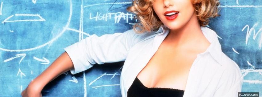 Photo charlize theron with writing board Facebook Cover for Free