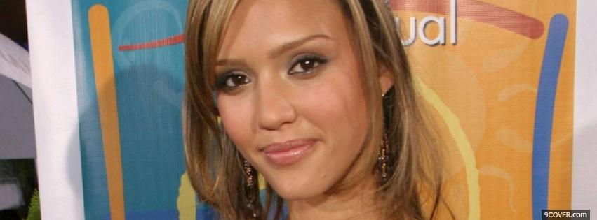 Photo superb actress jessica alba Facebook Cover for Free