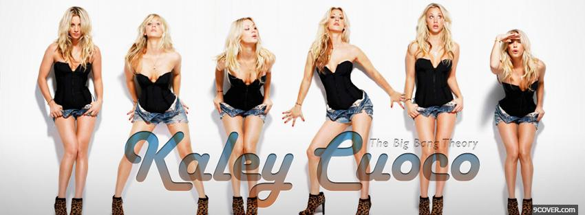 Photo wonderful celebrity kaley cuoco Facebook Cover for Free