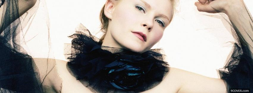 Photo female actress kirsten dunst Facebook Cover for Free