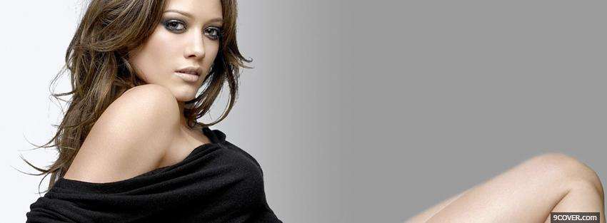 Photo hilary duff brown hairstyle Facebook Cover for Free