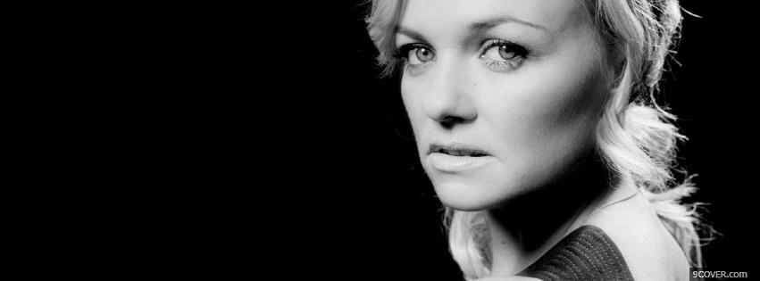 Photo black and white emma bunton celebrity Facebook Cover for Free