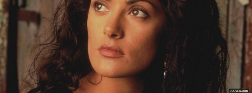 Photo looking up salma hayek Facebook Cover for Free