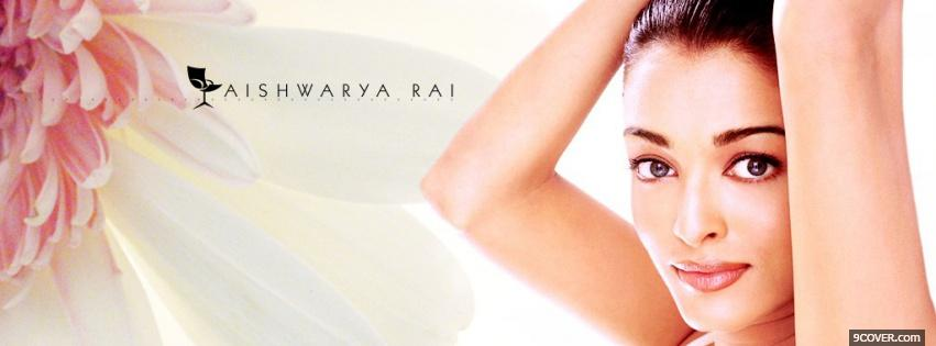 Photo glowing aiswarya rai Facebook Cover for Free