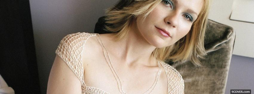 Photo kirsten dunst blue eye makeup Facebook Cover for Free